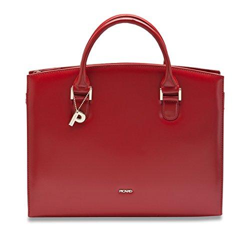 Picard BERLIN | exlusive Aktentasche| edler Shopper | weiches Leder | matt oder glänzend | wenig strukturiert schwarz (glänzend) rot (glänzend)