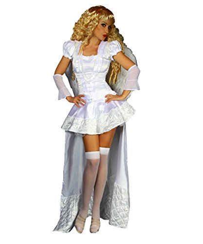 Engel-Kostüm - weiß - XS-M (Petticoat Engel)