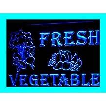 PEMA Lichtfluter i260-b OPEN Fresh Vegetable Neon Light sign Barlicht Lichtwerbung Neonlicht