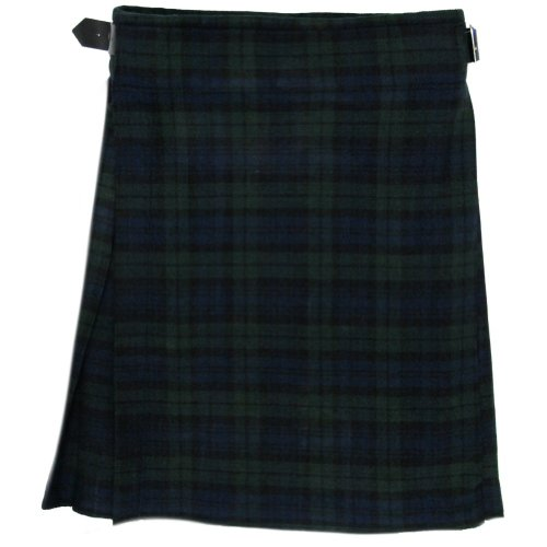 Tartanista - Kilt scozzese 4,6m 280g (5 Yard 10 oz)-Guardia Nera - UK36 (91 cm)