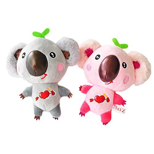 Yosemite Cute Cartoon Koala Form baumwollspielzeug schlüsselbund Clip schlüsselanhänger Valentinstag Paar Geschenk Zufällige Farbe.