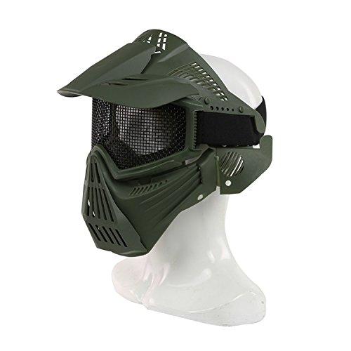 für das ganze Gesicht, Mesh-Maske, Schutzmaske, Militärschutzmaske, ideal für Paintball / Halloween-Kostüm, von HaoYK, OD Green (Ideale Halloween-kostüm)
