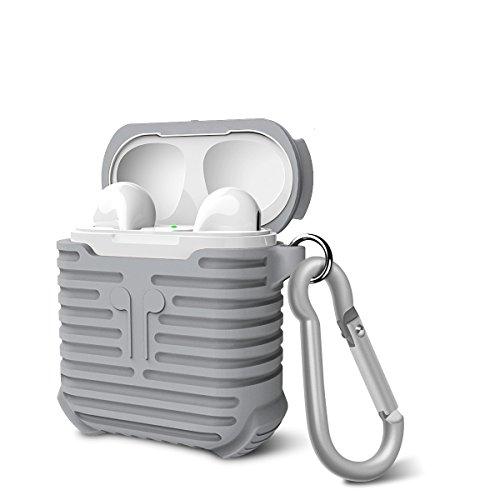 AirPods Silikon Schutz Hülle , Kopfhörer Tasche Schutzhülle Shockproof Staubdichte für Apple airpods (grau)