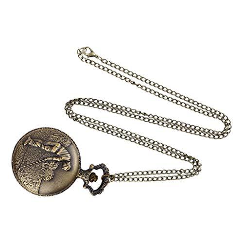 uhr for herren Römische alte Schlosstaschenuhr der starken Kettenweinlese(Bronze)