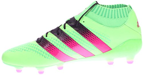 Adidas Ace 16.1 Primeknit Fg / ag FuÃ?ballschuh (sz. 6.5) Solar Green, Shock Rosa Solar Green/Shock Pink/Core Black