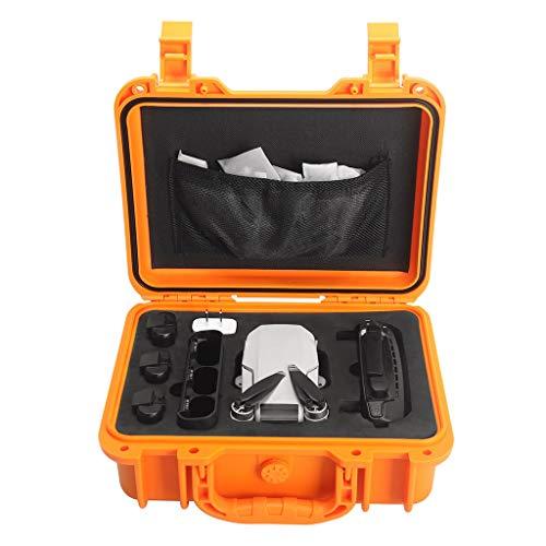 Jamicy® Eva wasserdichte Mobile Handtasche Koffer Umhängetasche für DJI Mavic Mini, Portable Tragetasche Hülle Hartschalen Koffer (Orange) -