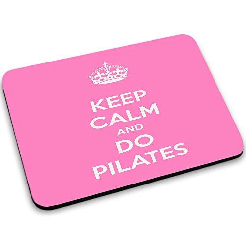Keep Calm 10029, Keep Calm And Do Pilates, Mouse Pad Tappetino per Mouse Mouse Mat con Disegno Colorato Antiscivolo in Gomma di Base Ideale per Giocare 250 x 190mm.