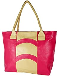 Women's Handbag Pink And Tan (HBA66) BY All Day 365