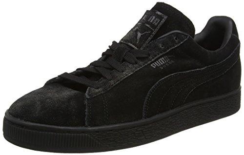 Puma Herren Suede Classic Distressed Sneaker, Schwarz (Black), 46 EU (Leder Distressed Turnschuhe)
