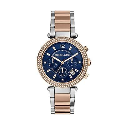 Michael Kors MK6141 - Reloj de cuarzo con correa de acero inoxidable para mujer, color azul de Michael Kors