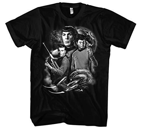 Star Trek Männer Herren T-Shirt   Enterprise USS Spock Kirk NCC1701a   M1 (L)