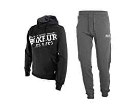 Idea Regalo - BOXEUR DES RUES Fight Activewear, Completo Tuta da Uomo, Nero, M