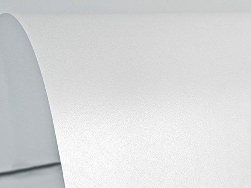 Netuno 100x Blatt Perlmutt-Weiß 125g Papier DIN A4 210x297mm, Sirio Pearl Ice White, ideal für Hochzeit, Geburtstag, Taufe, Weihnachten, Einladungen, Diplome, Visitenkarten, Grußkarten, Scrapbooking