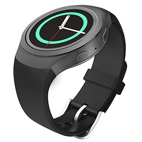 MoKo Samsung Watch Bracciale, Morbido Cinturino Sportivo di Ricambio in Silicone per Samsung Galaxy Gear S2 Smart Watch, Nero (Non...