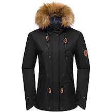 Wantdo Chaqueta de Esquí Para Mujer Anorak Windproof con Forro Polar Abrigo