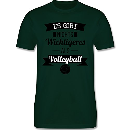 Volleyball - Es gibt nichts Wichtigeres als Volleyball - Herren Premium T-Shirt Dunkelgrün