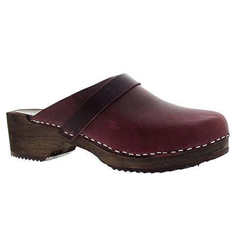Moheda Womens Emma Bordeaux Leather Sandals 40 EU