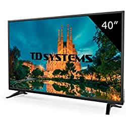 "TD Systems K40DLM7F - Televisor Led 40"" Full HD, Resolución 1920 x 1080, 3x HDMI, VGA, USB Reproductor y Grabador"