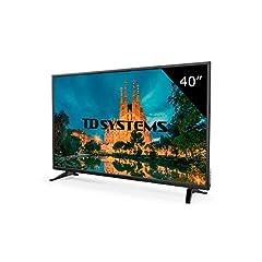 Idea Regalo - TD Systems K40DLM7F - Televisore Led 40 Pollici Full HD, risoluzione 1920 x 1080, 3x HDMI, VGA, USB lettore e registratore