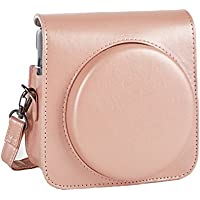 Phetium Protective Case for Instax Square SQ6 Instant Camera, Soft PU Leather Bag with Removable/Adjustable Shoulder Strap (Blush Gold)