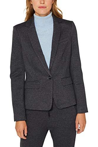 ESPRIT Damen 999Ee1G803 Anzugjacke, Blau (Grey Blue 420), Herstellergröße: 40 -