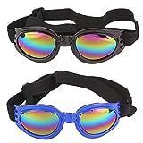 WENTS Gafas de Sol para Perros - Gafas 2PCS Ojos para Mascotas a Prueba de Viento, Arena y UV, adecuados para Cualquier Perro, protección Ocular Recomendada por Veterinarios