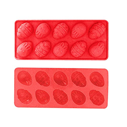 Ostern Beste Wohnkultur !!! Beisoug Cute Easter Bunny Silikon Eier Schokoladenkuchen Seifenform Backen Eiswürfelform (23,2 x 10 ()