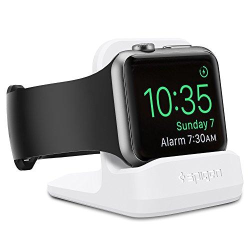 Spigen S350 Entwickelt für Apple Watch-Ständer mit Nachtmodus für Serie 5 / Serie 4 / Serie 3 / Serie 2 / Serie 1 / 44mm / 42mm / 40mm / 38mm, Patent angemeldet - Weiß