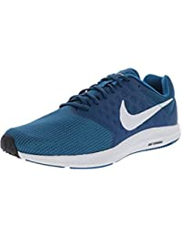 Nike Men's Downshifter Running Shoes, 7 (Navy Blue and White)