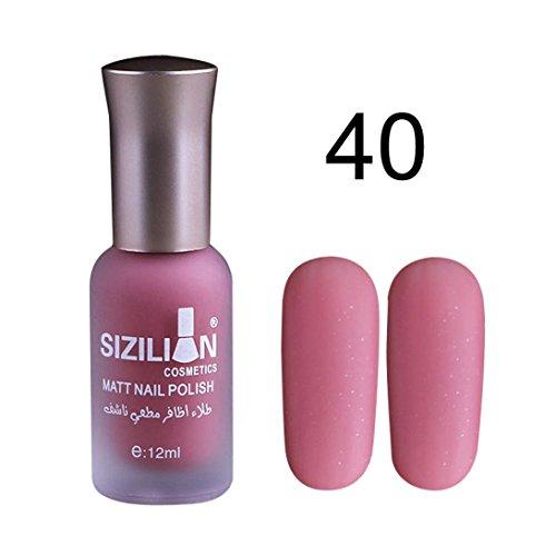 TIREOW Ultra deckender Farblack, Complete Salon Manicure Nagellack mit Keratinkomplex Raisin the Bar, Rosé, glänzender Pflegelack ohne UV-Licht (T)