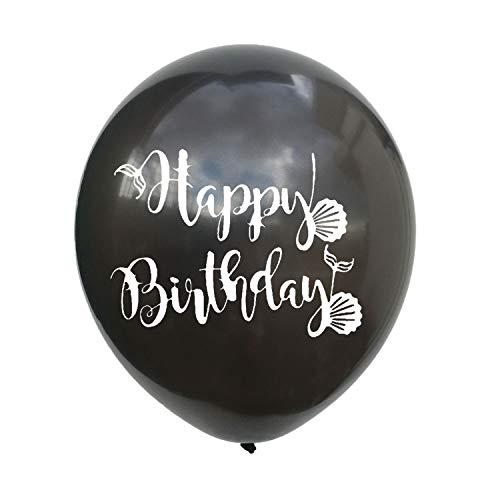100 St¨¹ck Tiffany Blau Lila Meerjungfrau Ballons Alles Gute Zum Geburtstag Alles Gute Zum Geburtstag Latex Ballon Party Anordnung