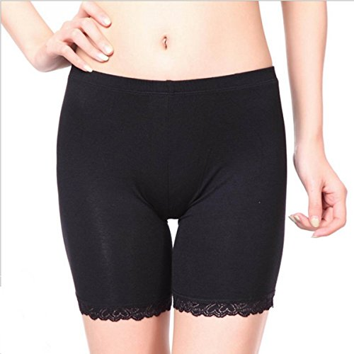 Womens-Elastic-Safety-Lace-Pants-Leggings-Render-Active-Under-Shorts