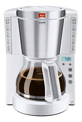 Melitta LOOK Timer Drip coffee maker 15tazze Bianco