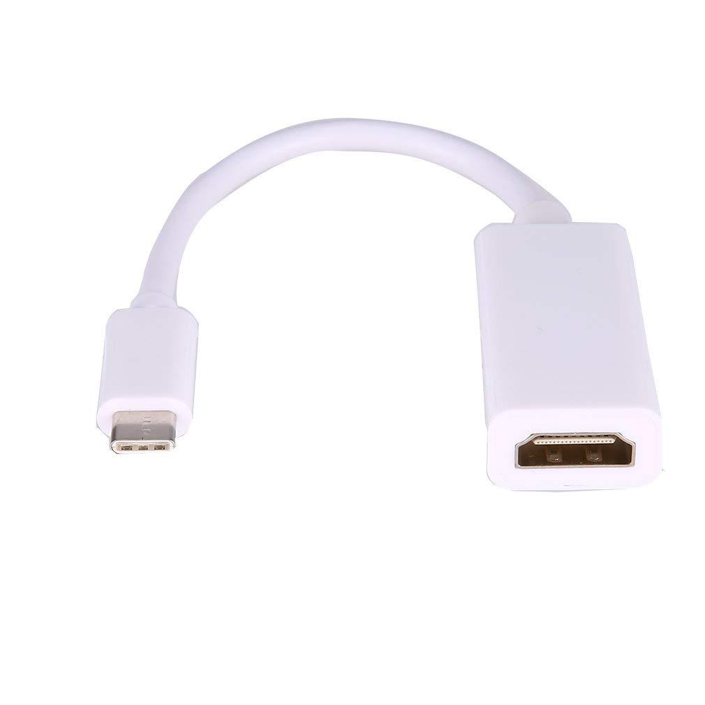 Basics Adaptador de USB 3.1 tipo C a HDMI Blanco