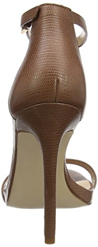 Aldo Caraa, Sandales Bout Ouvert Femme Marron (Medium Brown)