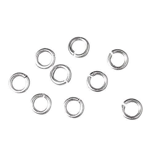 RAYHER 2199622 Ringel, 10 mm Durchmesser, 0,8 SB-Btl, 40 Stück, silber