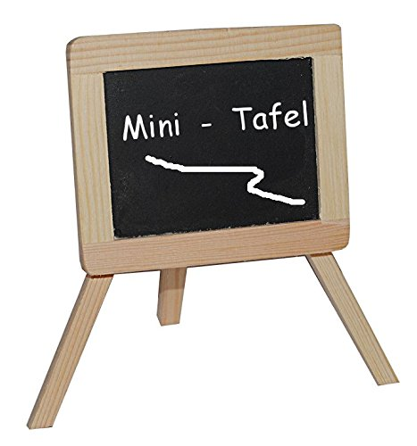 Unbekannt 3-D Figur Schultafel / Kreidetafel - z.B. als Namenskärtchen / Platzkarte / Tischkarte Tischdeko aus Holz - zur Schuleinführung - Einschulung Schulanfang