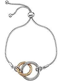 Hot Diamonds  -  925 Sterling-Silber  Silber Rundschliff   weiß Diamant
