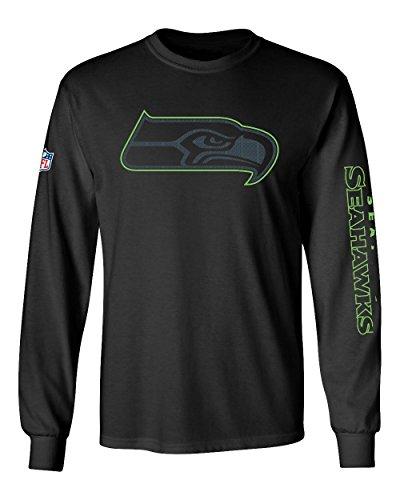 Majestic Longsleeve - NFL Seattle Seahawks schwarz - XXL