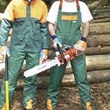 Forstschutzlatzhose, Forst Latzhose, EN 381, grün/orange, Gr. 52