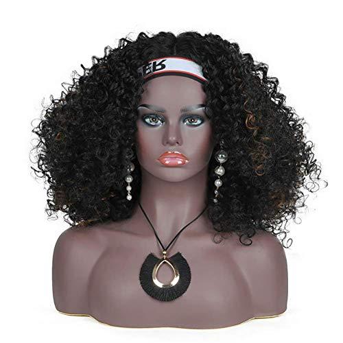 MTPL Europa und Amerika Stil Weiblich Mannequin Kopf mit Schultern und Büste Dunkler Hautton Anzeige zum Perücken Sonnenbrille Halskette Ohrringe