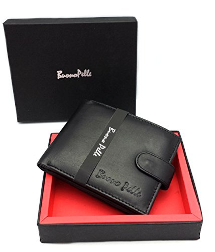 RFID-BLOCKING-MENS-DESIGNER-BUONO-PELLE-GENUINE-REAL-SOFT-LEATHER-WALLET-WITH-LARGE-ZIP-COIN-POCKET-POUCH-GIFT-BOXED