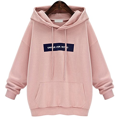 YunPeng Women's Hooded Sweatshirt Long Sleeve Letters Pullover Loose and Relaxed Sweatshirt