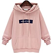 YunPeng Womens Hooded Sweatshirt Long Sleeve Letters Pullover Loose and Relaxed Sweatshirt