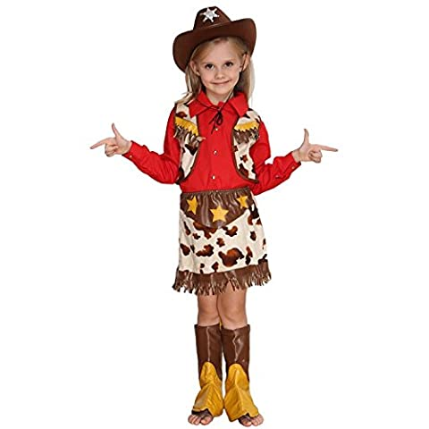 Costume Halloween Kids Costumes Cosplay, cmGirls peu Western Cowboy SHERIFF'S WEAR,7-8 taille (120cm)