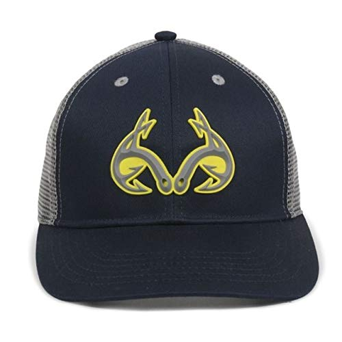 Realtree Buck Horn Navy/Gray Mesh Back Angeln Hat