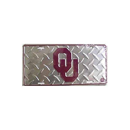 Oklahoma University Diamond Cut NCAA Tin License Plate by Tromic Gifts