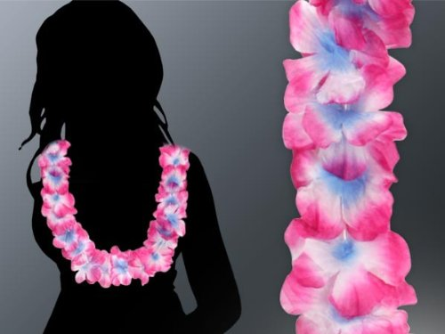 48 Piéces Hawaii collier vert blanc avec rose-vif 09