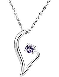 eb65417dffe5 Dream Rover Jewelry – Pendientes de plata de ley 925 abierta colgante de  corazón con cristales