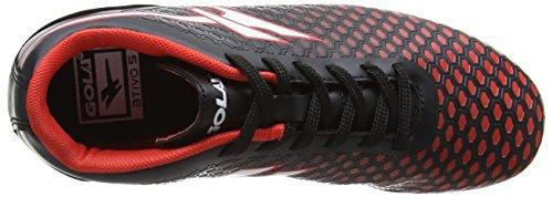 Gola Ion Vx, Chaussures de Football Garçon Noir (Black/red)